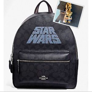 NWT Star Wars Coach Limited Ed Backpack w Hans Key